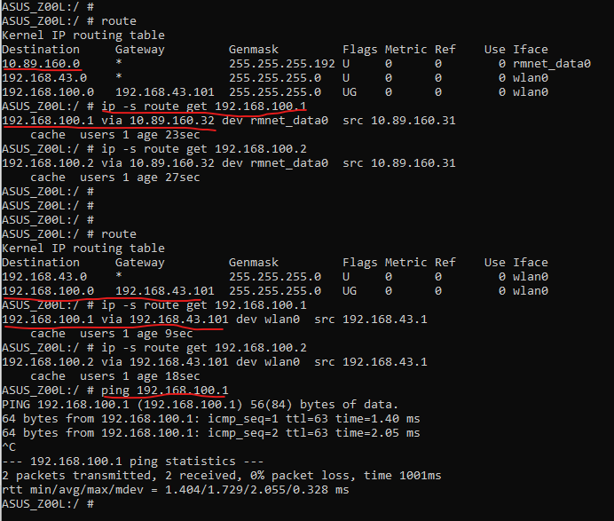 Fully routed setup - OpenWrt router and Android hotspot