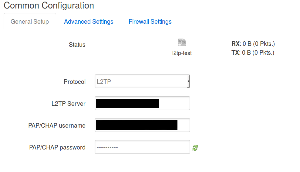 How to setup l2tp client - Installing and Using OpenWrt - OpenWrt Forum