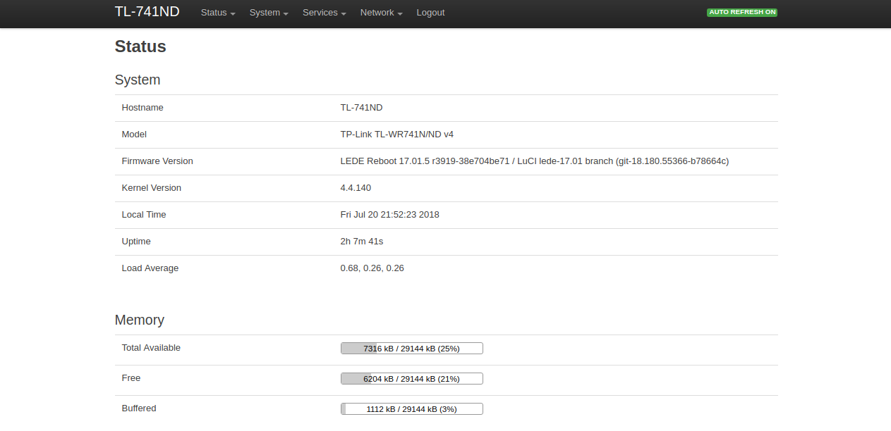 Optimized build LEDE 17 01 / OpenWrt 18 06 / libreCMC for