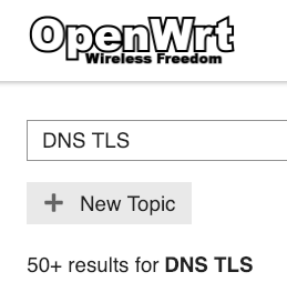 Dns over tls support - Network and Wireless Configuration