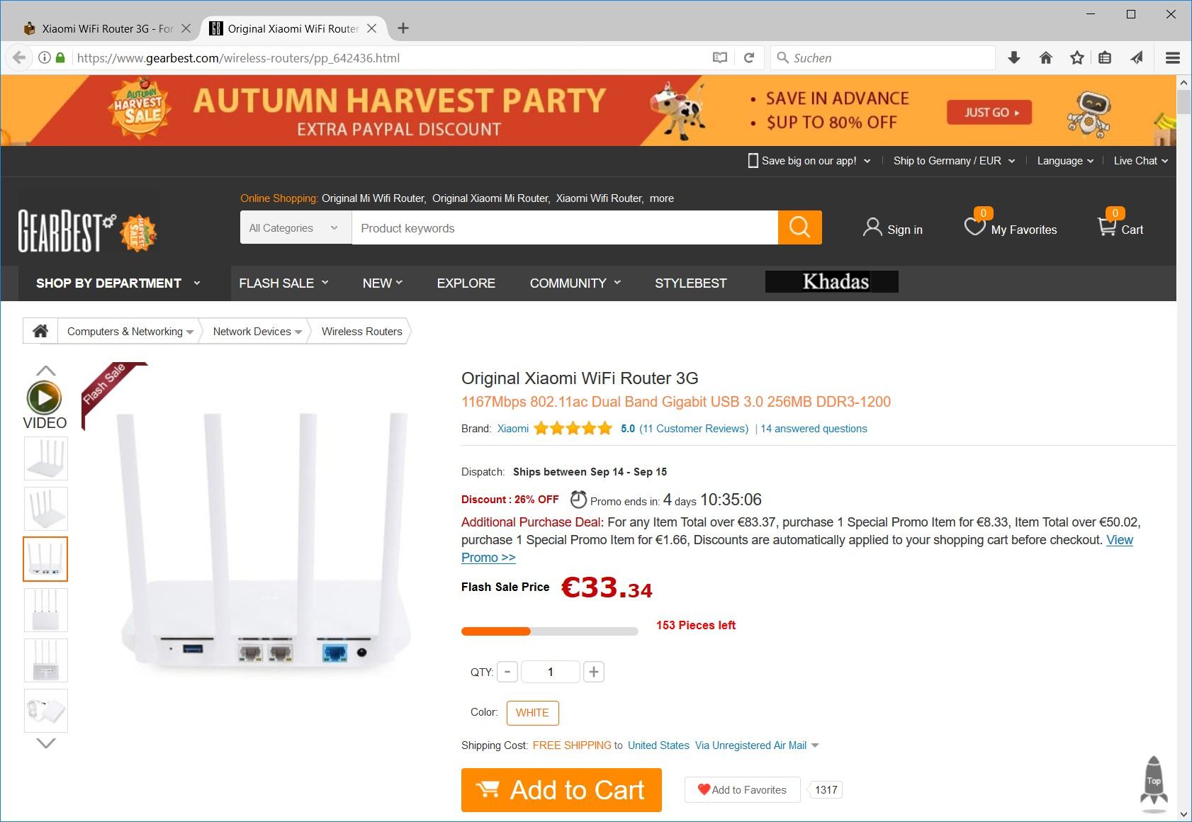 Xiaomi WiFi Router 3G GearBest