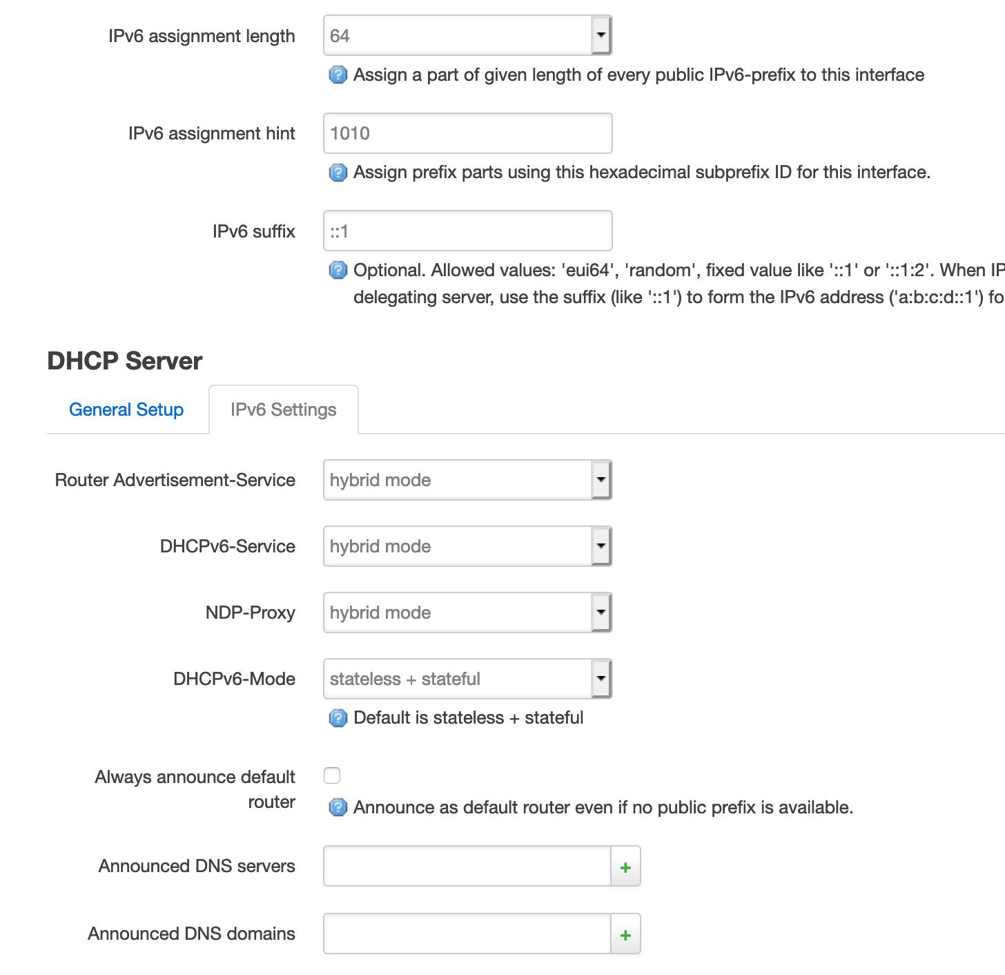 OpenWrt behind ISP Router: IPv6 Pass On Global Präfix