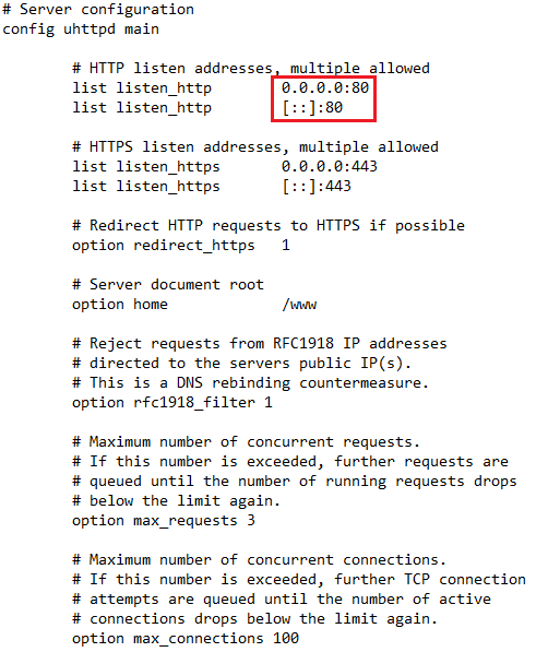 How to change port web ui - Installing and Using OpenWrt