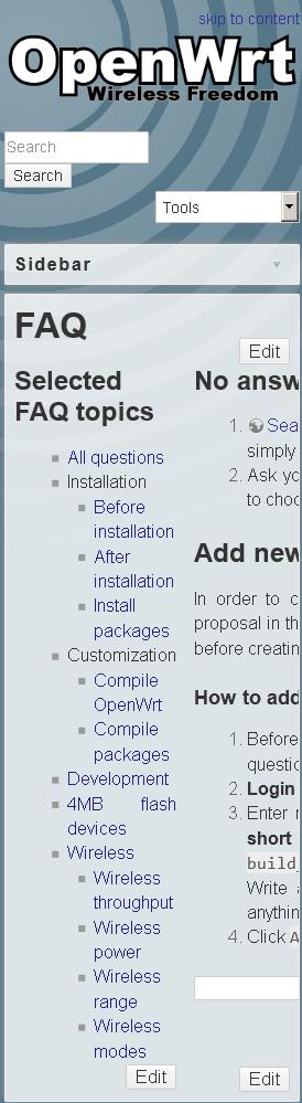 Wiki: FAQ - Talk about Documentation - OpenWrt Forum