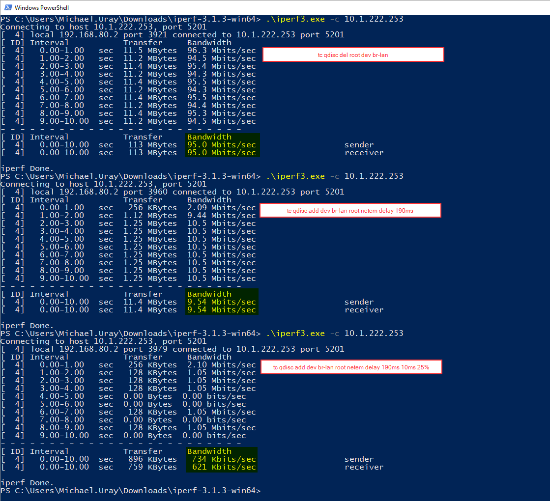 Simulate latency (delay) and packet loss - Installing and