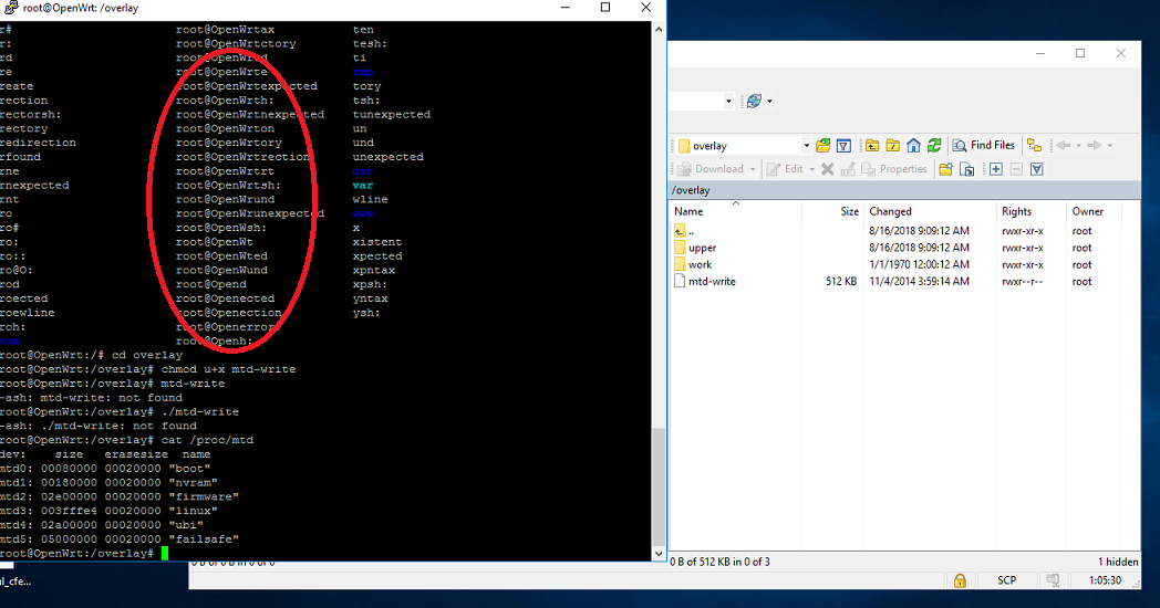 AC68U (TM-AC1900) could not execute uploaded tool (--ash error