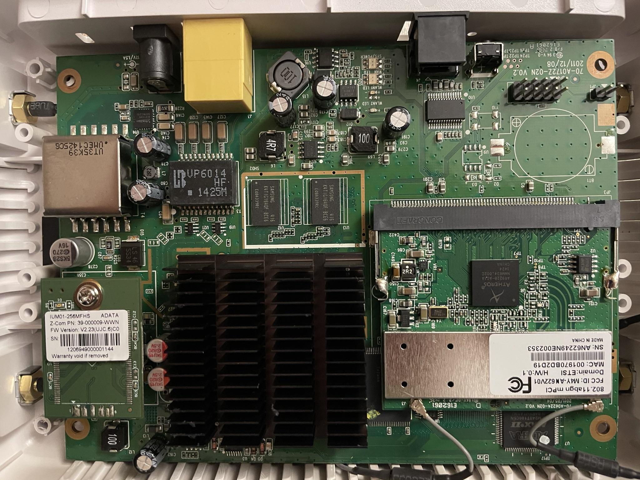 device PCB upside