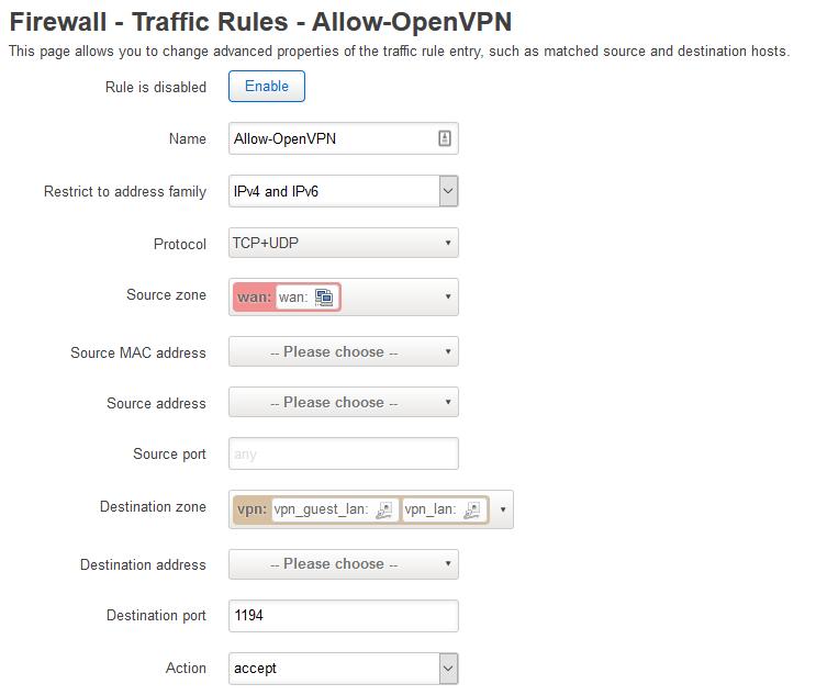 Firewall Rule